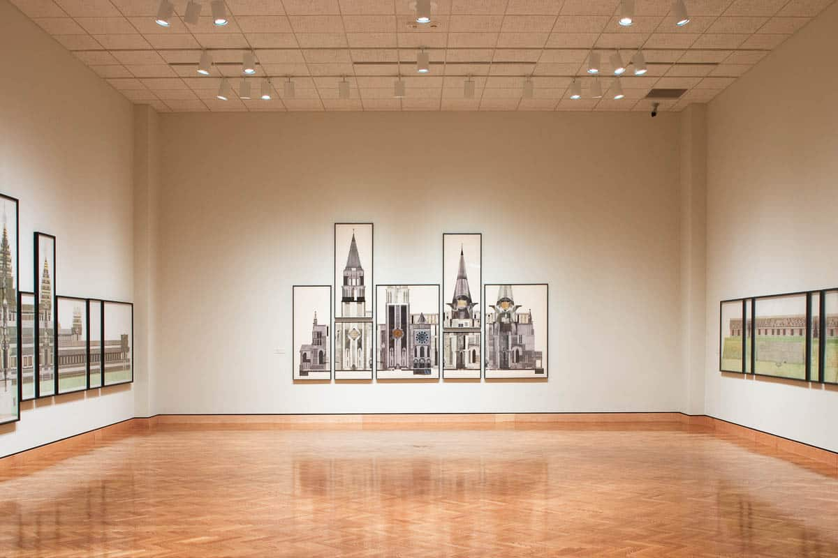 Chartres Drawing installation at MIA by Mary Griep