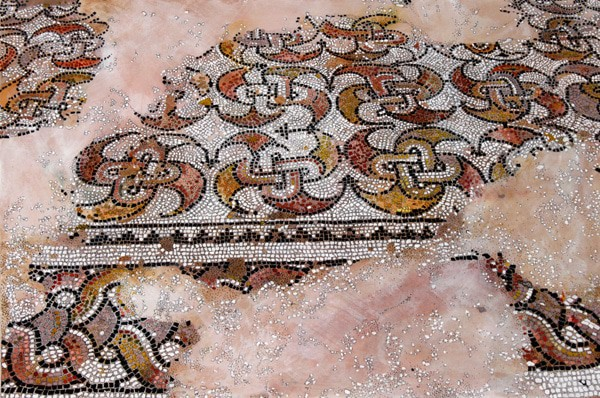 Sardis Mosaic Drawing by Mary Griep