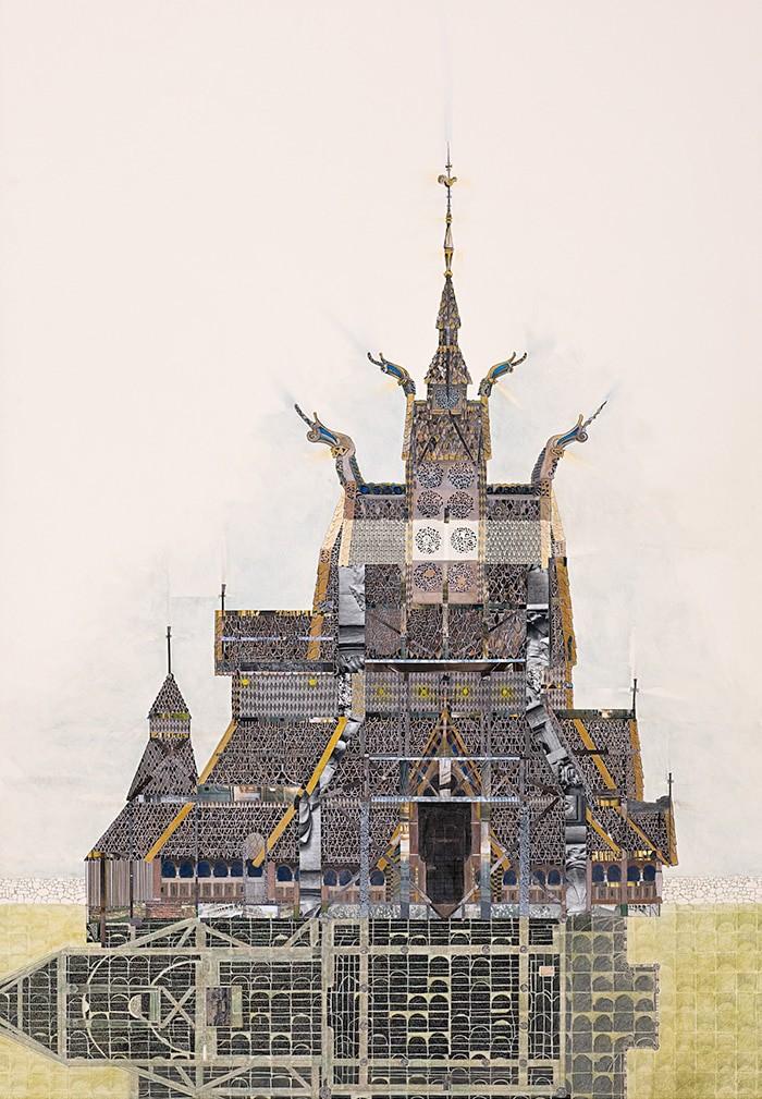 Borgund Stav Church by Mary Griep